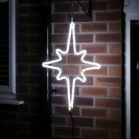 56CM OUTDOOR GARDEN MAINS PLUG IN CHRISTMAS NORTH STAR LIGHT SILHOUETTE MOTIF