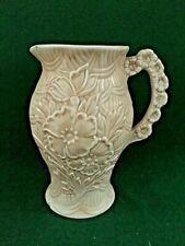 More details for vintage arthur wood wild flowers jug beige relief design art deco