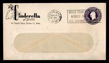 DR WHO 1946 BOSTON MA SLOGAN CANCEL STATIONERY ADVERTISING  f54403