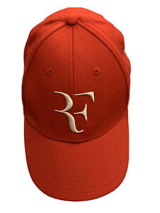 Nike Red Roger Federer Foundation Adjustable Strapback Hat Baseball Cap Rare