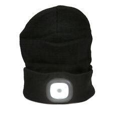 Strickmütze mit LED-Licht inkl. Akku mit USB aufladbar