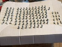 BOLT ACTION 28mm WW2 HUGE GERMAN MIXED ARMY 110 SOLDIERS METAL KORPS MORTARS ETC
