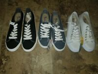 New Womens Margaritaville Lace Up Shoes White Denim Blue Black 6.5 7 8 9