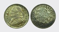 ROMA - PIO IX 1846-1870 -AG/ 10 SOLDI 1869 XXIV