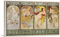 ARTCANVAS The Seasons- Les Saisons Canvas Art Print by Alphonse Mucha