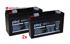 PBq 2x 3.5-4 4v 3,5ah compatibile Sonnenschein a504 3,5s Batteria Mano Lampada 2 pezzi