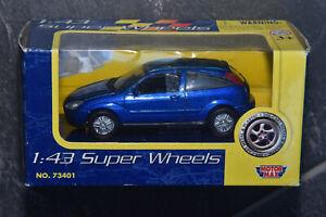 Motor Max 1:43 Super Wheels Ford Focus Mk1 No 73401 Blue
