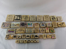 Mixed Lot of Stampin UP 43 Rubber Stamps Various Sizes Animals Christmas Flowers