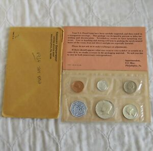 USA 1964 5 COIN PROOF SET WITH SILVER - sealed/coa