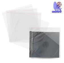 100 FUNDAS CD  TIPO CRISTAL CON AUTOCIERRE ADHESIVO PARA CAJA JEWEL CD -NUEVAS-