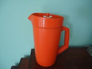 vintage retro tupperware orange  water jug 800-14 Australia