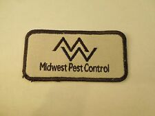 Vintage Midwest Pest Control Advertising Uniform Embroidered Sew On Patch