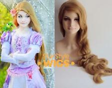 DELUXE RAPUNZEL TANGLED EXTRA LONG BLONDE WAVY 41 INCH COSTUME WIG