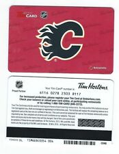 Tim Hortons CANADA NHL Hockey RELOADABLE GIFT CARD - 2015 Calgary Flames