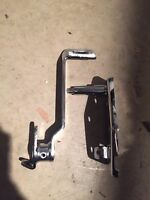 Harley Shovelhead Brake Pedal Support Bracket Kit Chrome Fl FLH Set Chrome