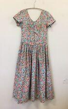 LAURA ASHLEY Vintage Prairie Dress Ladies Size 10 100% Cotton Lovely Dress
