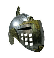 Gladiator Roman Helmet With Face Mask Knight Armor Hat Adult Spartan Costume