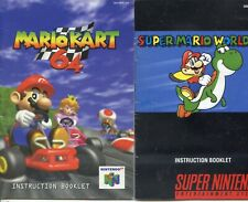 Mario Kart 64 & Super Mario World Game Instruction Booklet Manual Only Nintendo