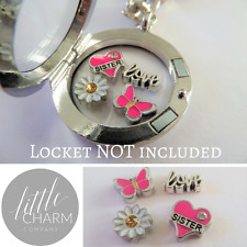 Love You Sister 4 Floating Charms Gift Set Buy 2 get 3rd FREE for Glass Lockets