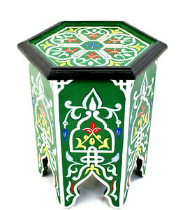 Moroccan Side Table Corner End Accent Piece Green Authentic Home Decor Size 2
