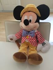 "Vintage Disney Store Big 17"" Mickey Mouse Plush main street fun with music day"