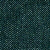 Abraham Moon Fabric 100% Pure Wool Blue Herringbone Weave Ref 1881/42