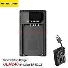 Nitecore ULM240 Digital USB Camera Charger for Leica BP-SCL2 Batteries M-Series