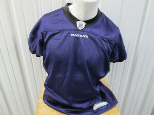 VINTAGE REEBOK AUTHENTIC BALTIMORE RAVENS 52 SEWN PRACTICE  PURPLE BLANK JERSEY