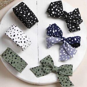 5 yards Dots Printed Ribbon DIY Bow Hairwear Accessories Clothing Decoration Tri