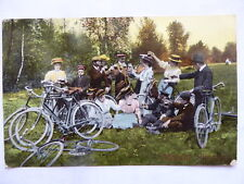 AK Fröhliche Pfingsten Fahrrad