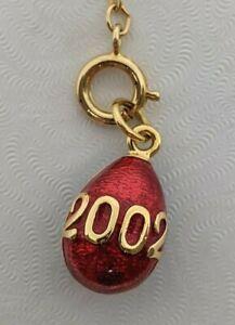 Vintage Joan Rivers jewelry charm Gold-tone enamel 2002 egg pendant
