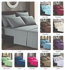 Platinum Hotel Quality Embossed Queen Sheet Set 4 Pillow Cases Mint Green Minty