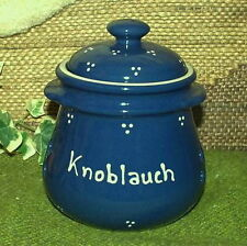 GS-2839 - Knoblauchtopf aus Keramik - 0,7 Liter - Dreipunkt blau