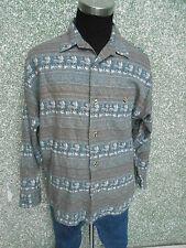 180 110 Signum Camisa De Hombre Talla M manga larga caña beis arena marrón verde