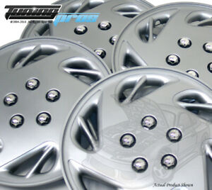 """Snap-On Hubcap 17"""" Inch Wheel Rim Skin Cover 4pcs Silver - 17 Inches #054"""