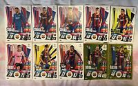 MATCH ATTAX EXTRA 2020/21 TEAM SET OF 10 BARCELONA CARDS INC FOILS