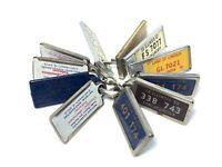 Vintage Illinois IDAV Keychain License Plate Tag Disabled American Veterans Lot