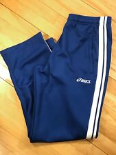 ASICS Vintage sz Medium Jogging Track Athletic Pants | Zip Ankles Stripes VTG