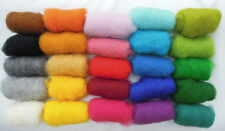Set of 25 colors Sheep Wool Fiber for Needle Felting 150 gr / 5.3 oz