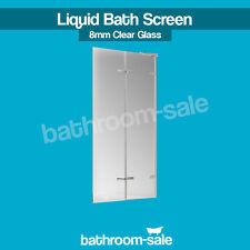 New Liquid 1500 Bath Screen Chrome Frame Clear Glass - 8mm - Genuine | RRP: £389