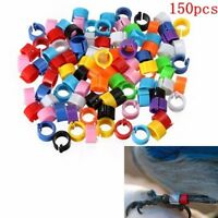 150x Bird Clip Rings Leg Bands Pigeon Parrot Chicks Duck Hatch Poultry Rings New