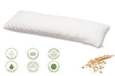 Cuscino Multiuso in Pula di Farro Biologica Cotone/Lino Soffice ortopedico NUOVO