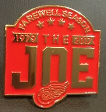 "DETROIT RED WINGS PIN ""THE JOE"" FAREWELL SEASON 1979 - 2017 STANLEY CUP CHAMPION"