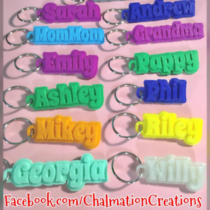 Custom Name Keychain, Zipper Pull, Personalized & 3D Printed