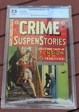 JERRY GARCIA COLLECTION: CRIME SUSPENSTORIES #18 (EC 1953) CBCS 7.5 VF- WHITE!