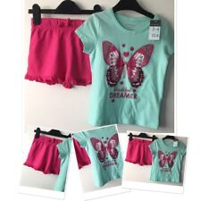 George Girls Summer Pink Shorts & New Tags Prk Butterlfy Top 3-4 Years