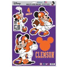 Clemson Tigers Let'S Go Tigers Mickey Mouse Laptop Multi Use Reusable Decals
