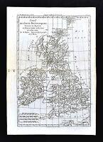 1779 Bonne Map British Isles Great Britain Ireland England Scotland Wales London
