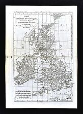 1779 Bonne Map British Isles Great Britain Ireland England Scotland Wales London