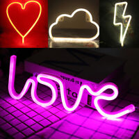 LED Love Moon Cactus Neon Lamp Night Light Birthday Wedding Party Fashion Decor